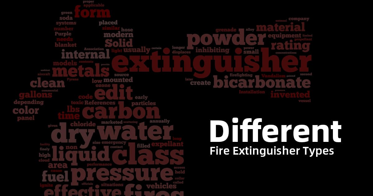 what are the different fire extinguisher types 1200x630 1